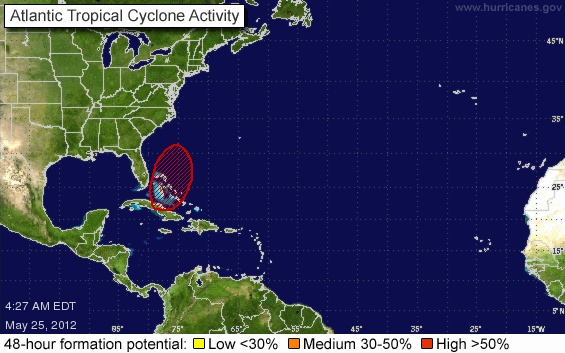 If this develops, it will become Tropical Storm Beryl