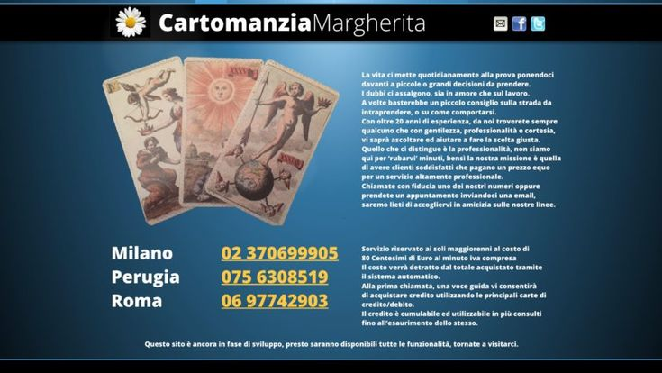 tarocchi sibille cartomanzia margherita 0756308519 - directory - AdvAnnunci.it