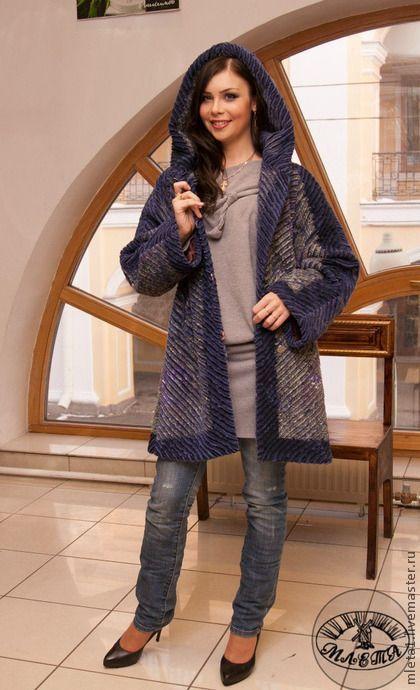 Верхняя одежда ручной работы. Ярмарка Мастеров - ручная работа пальто осеннее из павловопосадского платка с капюшоном. Handmade.