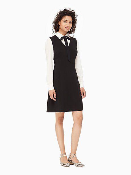 bow tie crepe a-line dress | Kate Spade New York