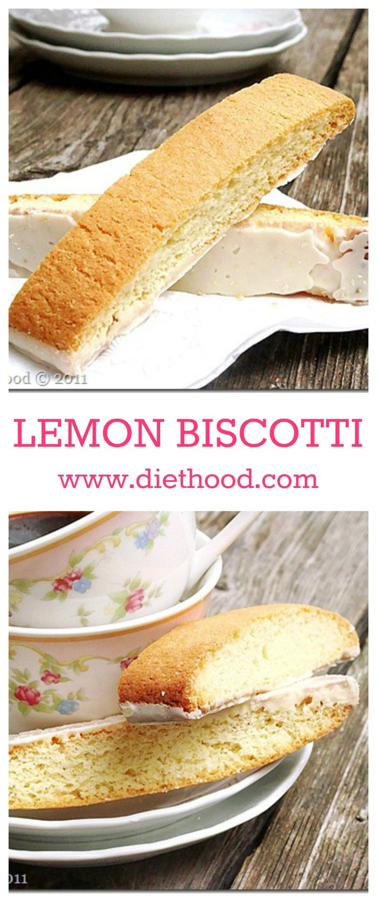 Lemon Biscotti - Lemon-flavored cookies, they are your coffee's best friend!!