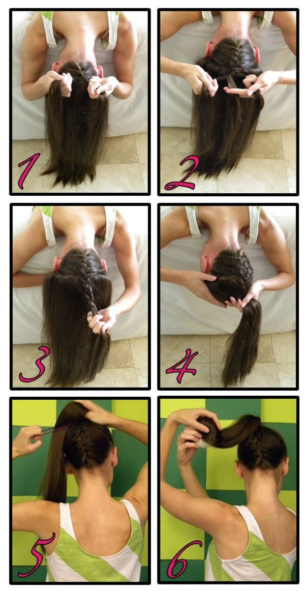 Leave it in a ponytail or make a sock bun out of