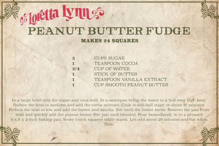 Loretta Lynn Just Shared Her Famous Peanut Butter Fudge Recipe