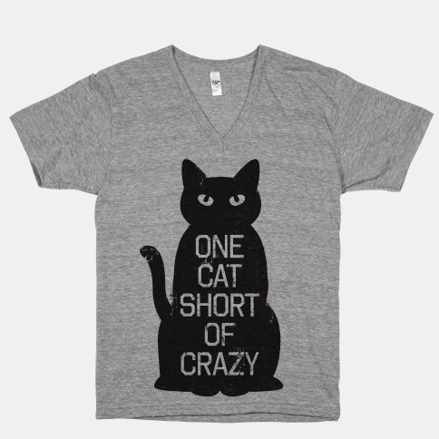 Showoff your huge, but not too huge, love for cats with this sassy tee.  Free domestic U.S. shipping on all orders of $50 or more.