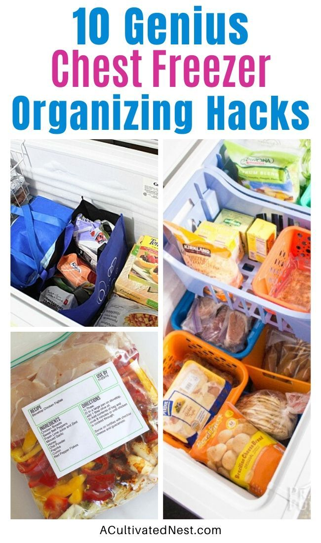 Ideas For Organizing A Chest Freezer Kitchen Organization Chest Freezer Chest Freezer Organization Deep Freezer Organization