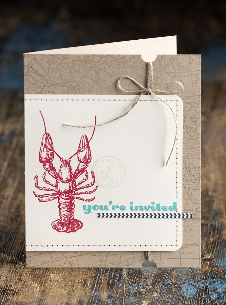 That lobster looks delicious. Good thing you're invited to dinner!