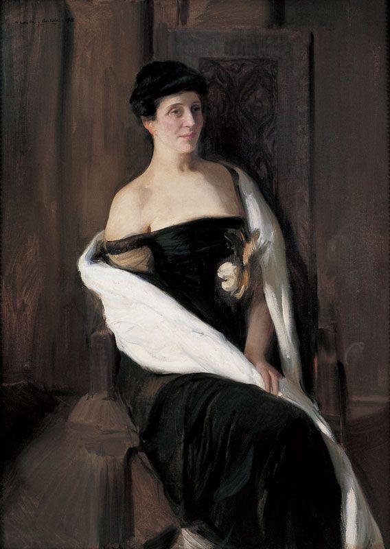 Portrait of a woman,   Joaquín Sorolla