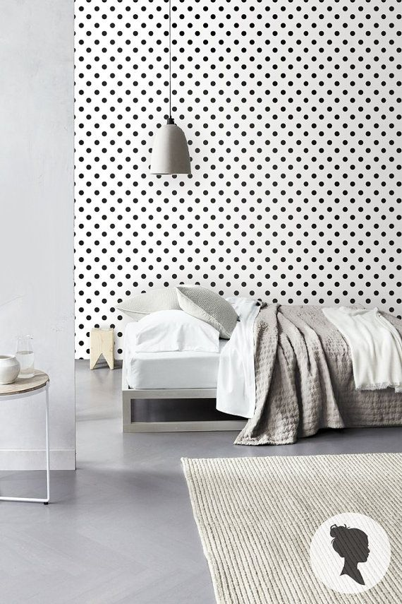 Polka Dot Self Adhesive Vinyl Wallpaper D007 by Livettes on Etsy