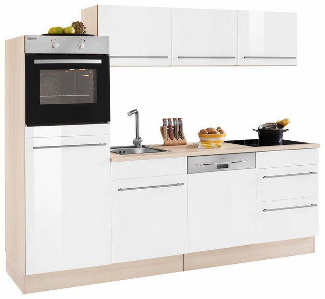 Kuchenzeile Bern Ohne E Gerate Breite 240 Cm Mit Hohenverstellbaren Fussen Kuchenzeilen Kuche Und Arbeitsplatte