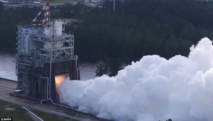 Nasa live-streamed the test, and footage revealed an enormous plume of smoke being billowe...