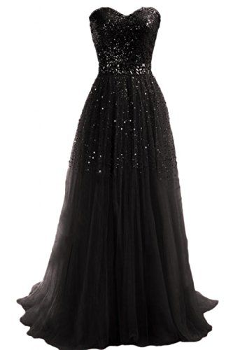 Emma Y Exquisite Sweetheart Tulle Long Prom Dress Party Gowns- US Size 18W-Black - Click image twice for more info - See a larger selection of evening dresses at http://azdresses.com/category/dress-categories/dresses-by-occassion/evening-dresses-gowns/ - woman, womans fashion , womans dresses, gown, long dresses, gift ideas , long gown « AZdresses.com