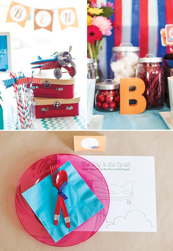 Adorable Soaring High Airplane Birthday Party Furniture Portal