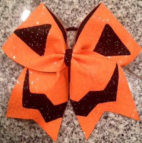 Bows by April - The Great Pumpkin Orange Sequins and Glitter Cheer Bow, $15.00 (http://www.bowsbyapril.com/the-great-pumpkin-orange-sequins-and-glitter-cheer-bow/)