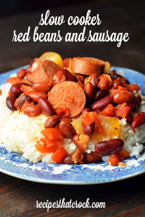 Slow Cooker Red Beans and Sausage #CrockPot