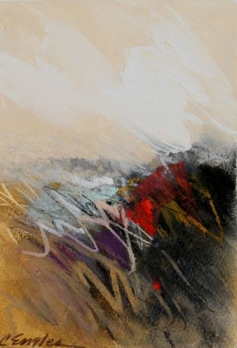 At The Dunes Two, abstract painting by Carol Engles -- Carol Engles