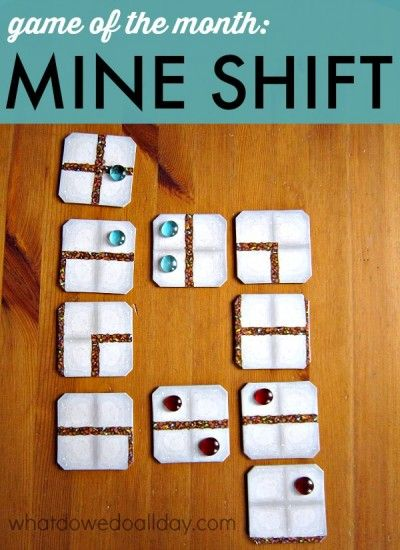 Mine Shift from Mindware is a strategy game for kids. --> can't wait to try this!
