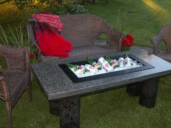 32 best images about diy stayin 39 frosty outdoor coolers for Diy patio table with cooler