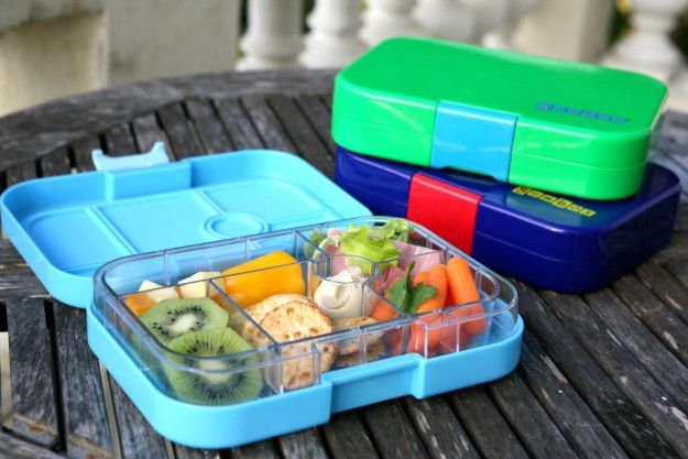 A modern lunch box that lets you pack all kinds of items you can't with a traditional lunch box.