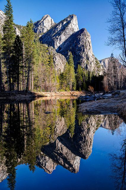 Three Brothers, Yosemite National Park, California; photo by Eric Leslie