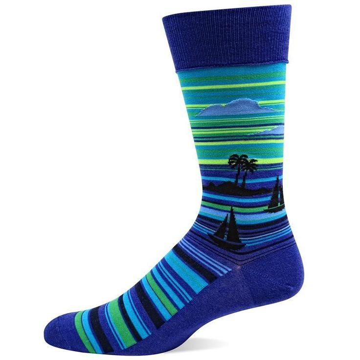 Royal blue and black dress socks