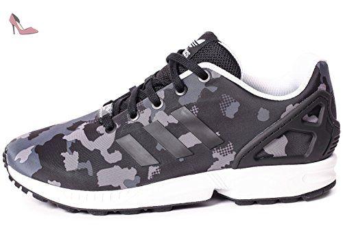 adidas Zx Flux Camo Print Grise Et Noire Gris 38 - Chaussures adidas (*Partner-Link)