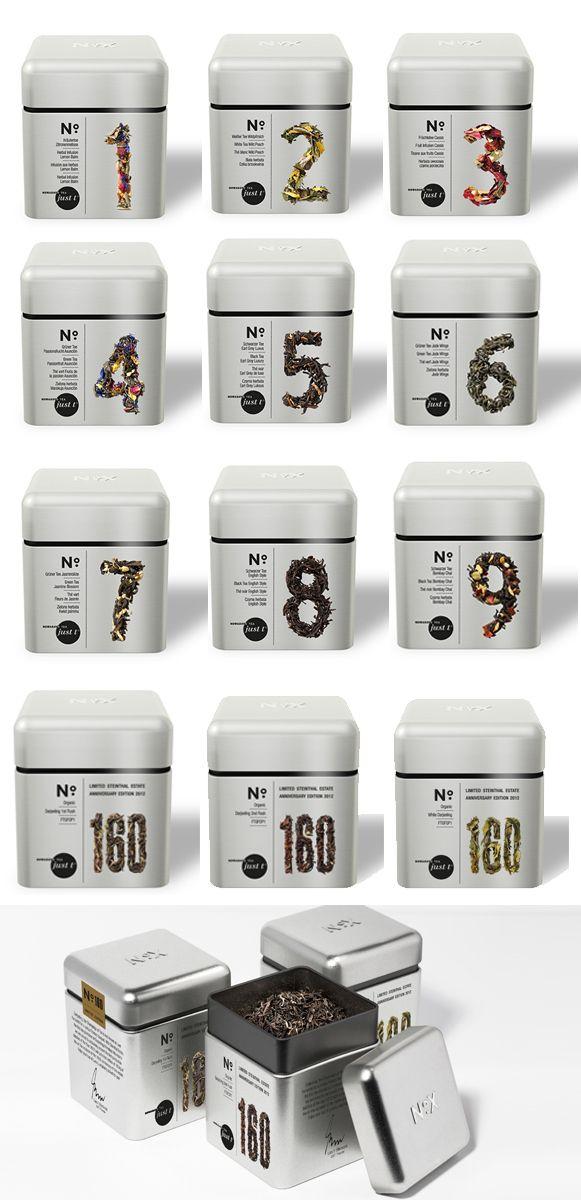 packaging design   just-t black label teas and limited edition darjeeling trio   bye christian vonder heide