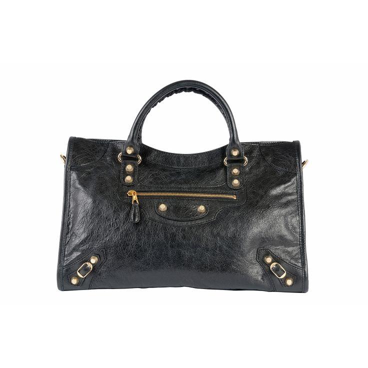 #Balenciaga City 12 Giant Gold #Bag #Black