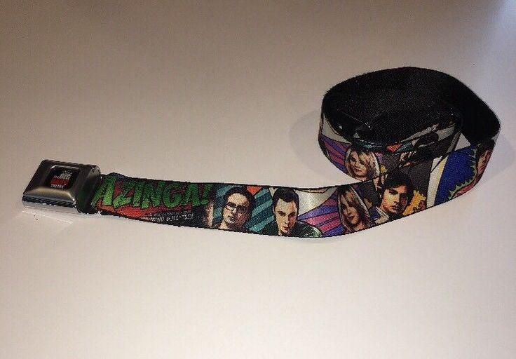 The Big Bang Theory Seat Belt Belt Sheldon Leonard Penny Howard Mens Buckle-Down  | eBay