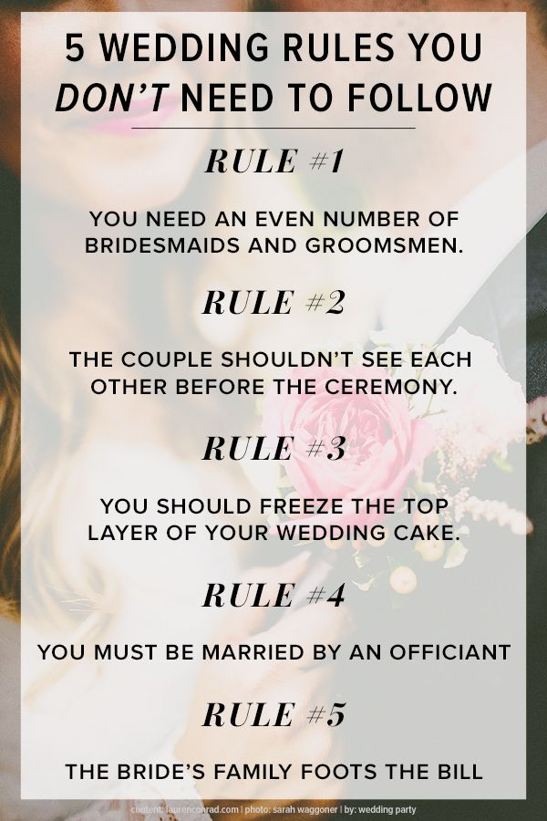 512 best wedding planning tips images on pinterest marriage 40 5 wedding rules you can break according to the experts junglespirit Choice Image