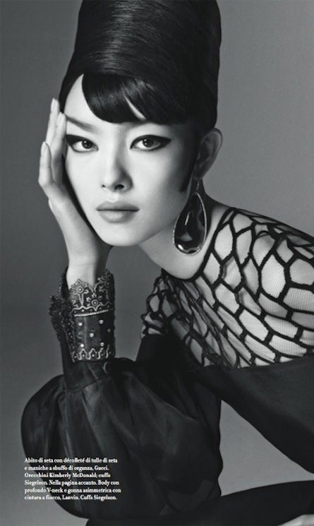 "Vogue Italia January 2013 / Editorial: ""FEI FEI"" / Photographer: Steven Meisel…"