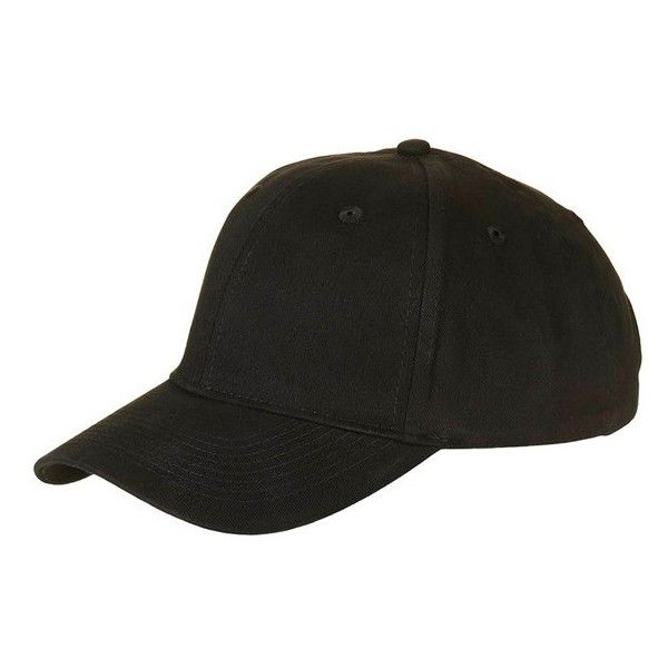 Women's Topshop Plain Cap ($15) ❤ liked on Polyvore featuring accessories, hats, black, ball cap, ball cap hats, cap hats, canvas hat and canvas baseball cap