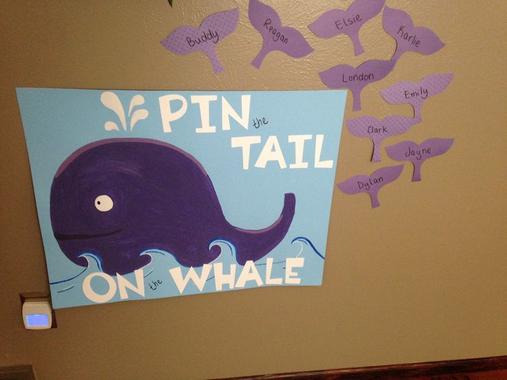 Pin the tail on the whale by Big Dreams. Under the Sea birthday