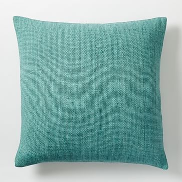 Silk Hand-Loomed Pillow Cover - Peacock #westelm