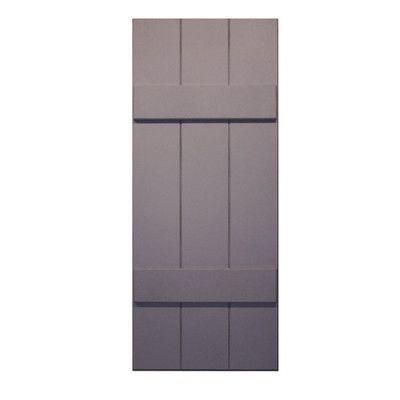 "Shutters By Design RockBridge Composite Board and Batten Shutter Color: Black, Size: 30"" H x 15"" W x 1.63"" D"