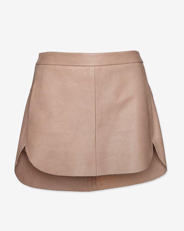 mason by michelle mason Zipper Detailing Mini Leather Skirt