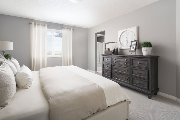 Owner's bedroom /Master suite in Shane Homes' Tofino II Showhome in Redstone in northeast Calgary #bedroom #mastersuite #ownersbedroom