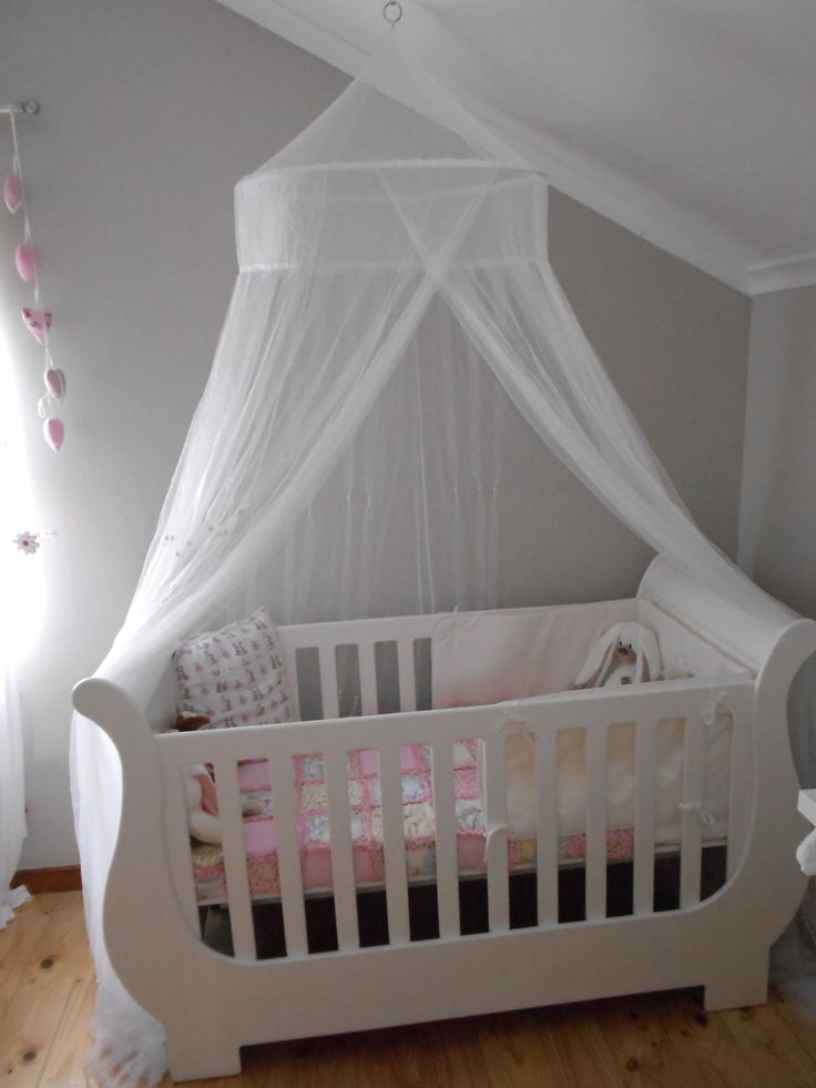Sleigh Cot With Mosquito Net Kids Cot Bedding Baby