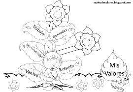 Resultado de imagen para carteleras de primer grado con los valores