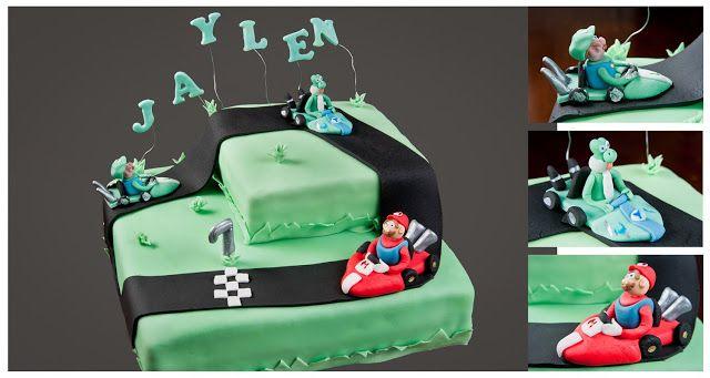 Super Mario en vrienden taart cake