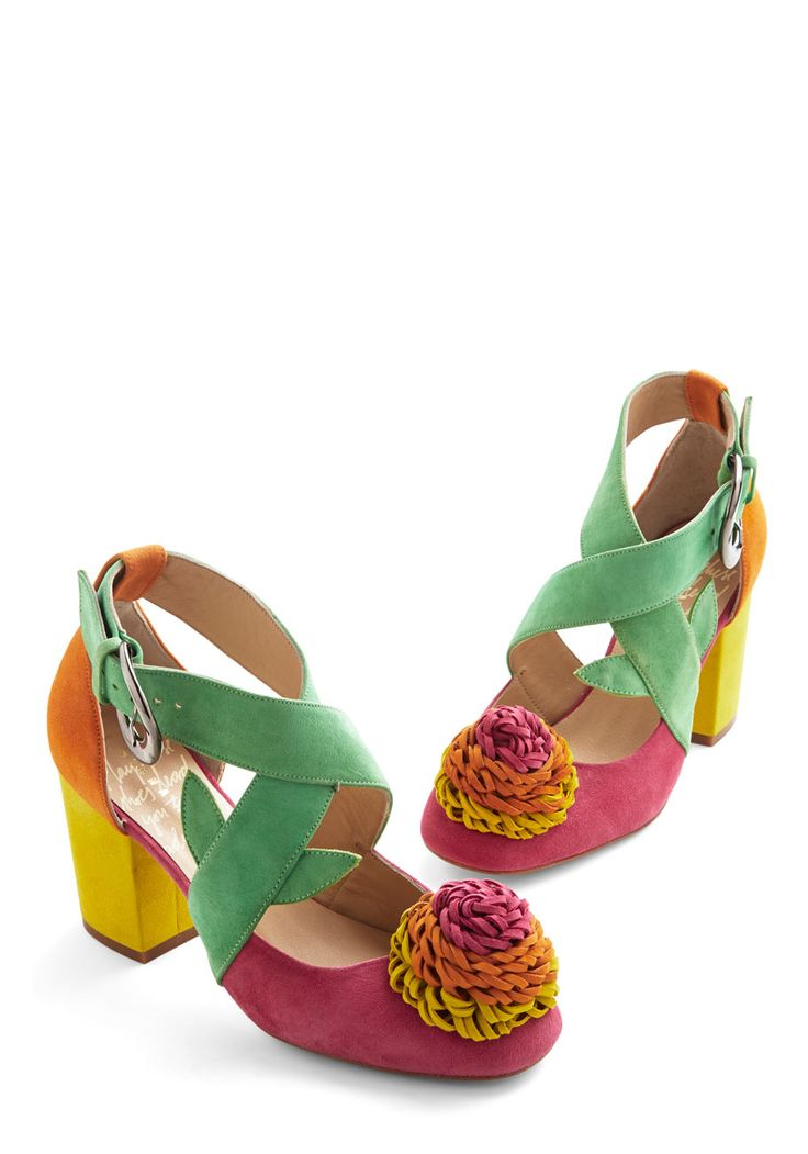 Speed of Bright Heel. Accelerate your style to a polychromatic pace in these colorful Minna Parikka heels! #multi #modcloth