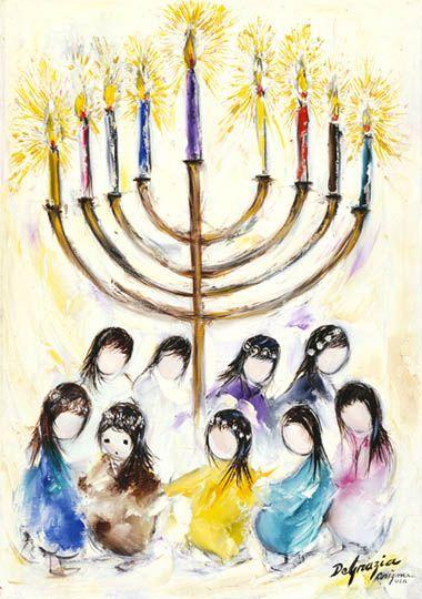 DeGrazia® - Hanukah - Gallery Print  12 x 8 1/2. $17.95