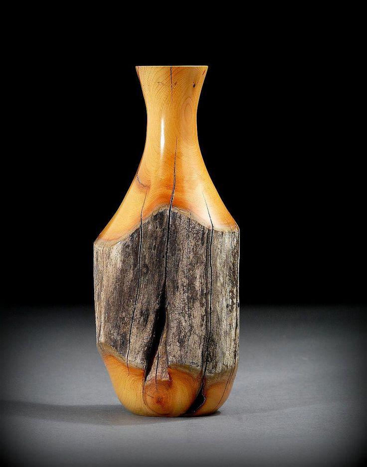 """Fencepost"" vase of Buckthorn wood.  Timberturner.com"