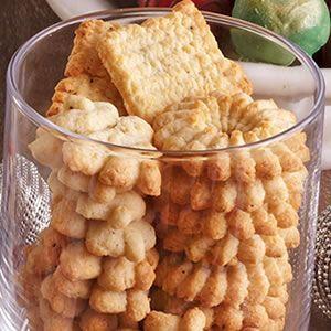 Parmesan Pepper Spritz Crackers Recipe (Culinary)