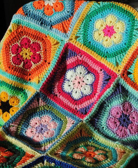 crochet couverture magnifique