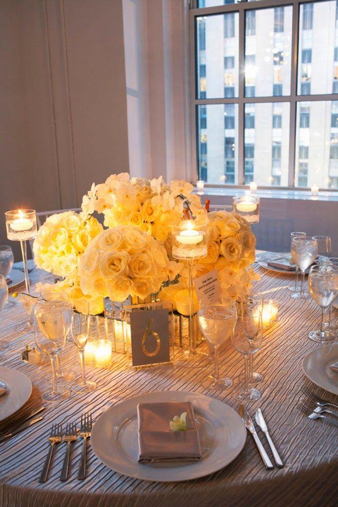 Mirror vases and candlelight ~  Karen Wise Photography, Floral Design: Tantawan Bloom | bellethemagazine.com
