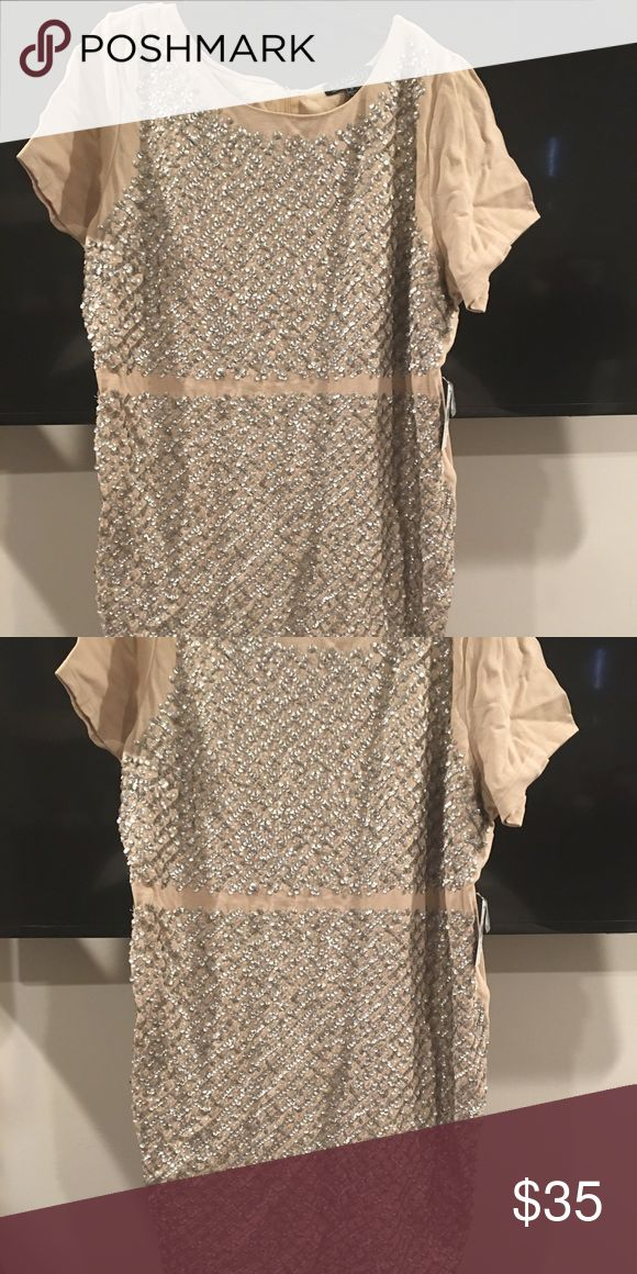 Eloquii Cream sequin dress size 24 Sequin dress size 24 Dresses