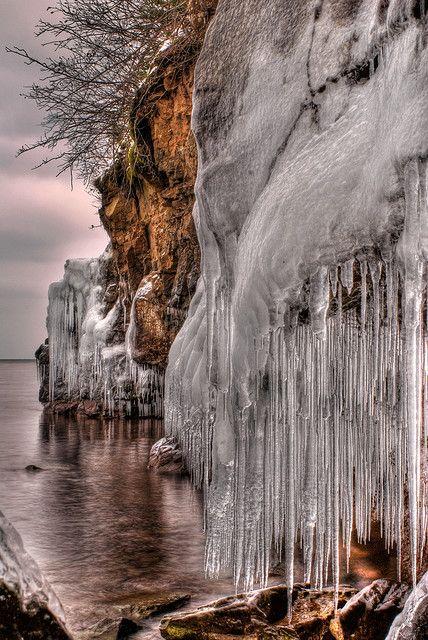 Frozen Shore Lake Superior