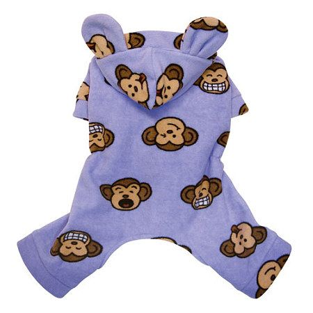 Lavender Silly Monkey Hooded Dog PajamasWhether your pup sleeps in their bed or yours, pajamas are sure to not only keep them warm on chilly nights but also help to keep fur off the sheets.  A top seller, these super cute