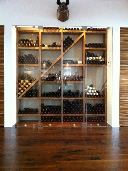 Contemporary Wine Cellar With Refrigeration By Kessick, Contemporary Wine Cellar