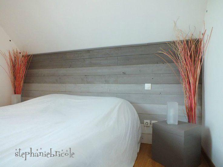 id e d co une t te de lit en lambris avec un effet de peinture en d grad vid o sur la. Black Bedroom Furniture Sets. Home Design Ideas
